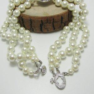 Планета Ожерелье Pearl Layers 3 прибытия Женщины Rhinestone Спутниковое новое ожерелье высокого качества Orbit подарков партии Amdsv