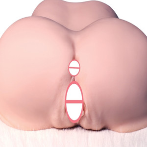 Silicone Big Ass Male Masturbator Realistic Sex Doll For Man Artificial Anal Adult Sex Toys Double Channel Masturbator Sex Shop Y200422