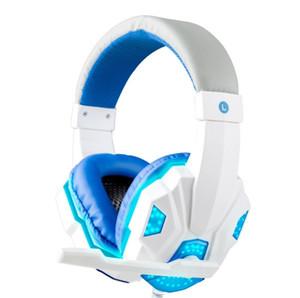SY830MV Gaming Headset para Gamer Wired Stereo Som cancelamento de ruído Heandphone para computador com LED Microfone