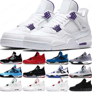 2020 gato preto 2020 4 4S tênis de basquete Jumpman asas néon criados encore cacto Jack White cimento homens estilista sapatilhas US 7-13