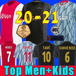 قميص كرة القدم 20 21 أياكس رقم 50 ، PROMES Home Away amsterdam VAN DE BEEK NERES 2020 2021 TADIC FOOTBALL SHIRT MEN + KIDS SETS