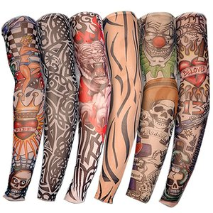 Stretchy Nylon Fake Temporary Tattoo Sleeves Body Art Arm Stockings Slip Accessories Halloween Tattoo Soft For Men Women