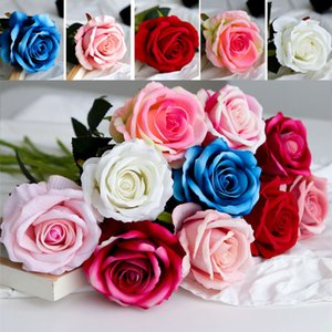 Fleur artificielle Rose Soie Pivoine Fleurs Fête de décoration fleur de mariage Décorations de Noël Fleurs Décoration d'intérieur WX9-1635