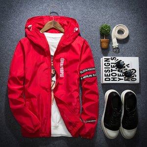 April MOMO Spring Autumn Thin Windbreaker Jacket Men Plus Size XS-XXL jaqueta masculina Slim Fit Young Men Hooded bomber jacket 200923