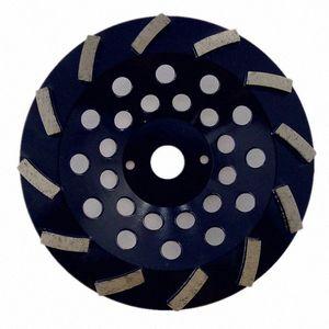 GD39 concreto Piso Polishing Pad 7 polegadas diamante rebolo Cup Grinding Disc com 12 segmentos para concreto Piso 9PCS gM91 #