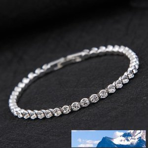 New Simple Diamond Crystal Bracelet Silver Gold Plated Bracelet Bangle Cuff Bands for Women Fashion Wedding Jewelry drop shipping