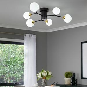 Modern LED Ceiling Chandelier Multiple Wrought Iron Nordic Loft Chandeliers for Living Room Bedroom Light Fixture lustre