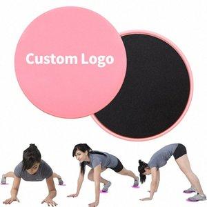 Fitness Gliding disques 2 Curseur PCS exercice Plate coulissant pour le yoga jambe abdominale entraînement double face Gliding Fitness Equipment HAL3 #