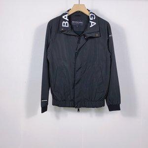 chaqueta, chaqueta, protector solar, casual hombres de la chaqueta, la impresión superior y la letra, solapa, encapuchado, rompevientos, ropa de calle D9 de los hombres de la marca