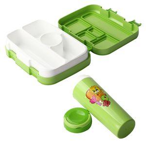 Grille multi Leak Proof Lunch Box Set repas enfants avec bouteille Joint Cartoon Portable