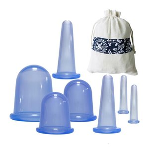 7Pcs Silicone Cupping Set Vacuum Anti-Cellulite Therapy Professional Health Care Body Massage