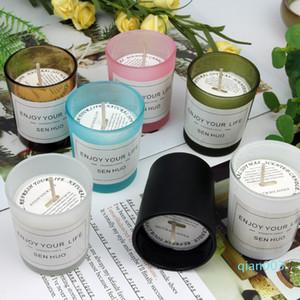 7 Verre Saveurs Bougie parfumée Bougie parfumée Smokeless romantique bougie sans fumée Soy Wax Hôtel exquis cadeau XD23359