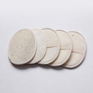 13 * 18 cm Forma oval loofah naturales almohadilla lavador quitar el baño de piel de la cara ducha loofah esponja AHF934 muertos