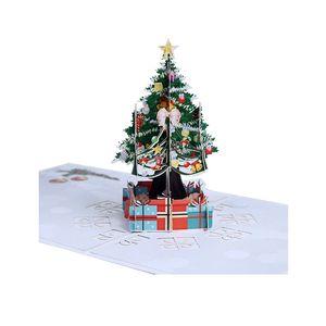 3D Up Greeting Cards Xmas Wedding Birthday Christmas Postcard Xmas Gift Invitation Card