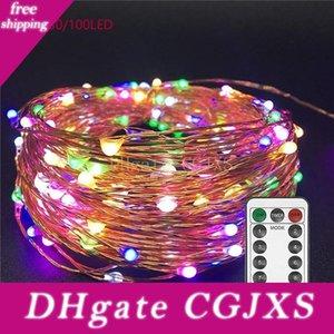 Led Luzes Cordas Twnikle Fada impermeáveis luzes 8 Modos 50led 100 LED USB Plug In fio de cobre Firefly férias luzes de tira