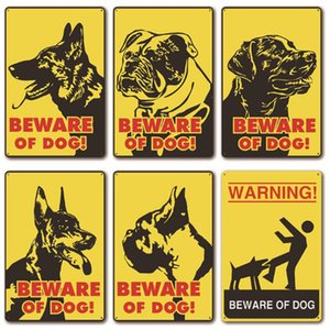 Wholesale Caution Dogs Beware dogs Metal Painting Martin Metal Signs Tin Painting 20*30cm Home Pet shop Wall Decor Metal Painting