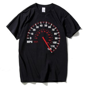 Спидометр Customized T Shirt Men Graphic Letters автомобилей Speed ​​T-Shirt Black Colors с коротким рукавом Hip Hop Tops Tee Марка