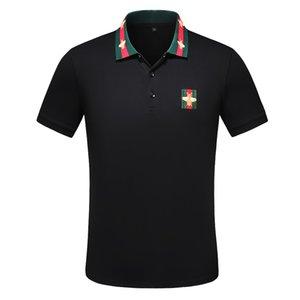 2020 Itália Mens Designer Polo Homem High Street Bordados Garter Snakes Little Bee impressão Marcas Top Vestuário Cottom Qualidade Tees