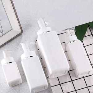 100ml-500ml PET Kare Losyon Pompası Şişeler Alkol Jel Dezenfektan Şampuan El Temizleyici Kozmetik Alt Ambalaj Plastik Şişe OWF2422