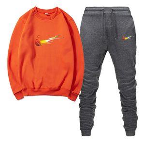 spor koşu erkekler rahat pamuk ilkbahar ve sonbahar tişörtü bayanlar baskı Erkekler spor spor takım elbise mektup
