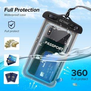 GETIHU 방수 케이스 수영 커버 휴대 전화 Coque 방수 파우치 가방 아이폰 (11) 샤오 미 미 9 SE 8 프로 A2 A1 라이트 주 3