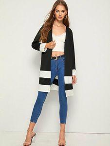 Women's Trench Coats Women Open Front Cardigan Long Sleeve Pockets Plain Basic Coat