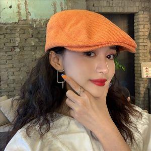 f7xCX koreanischen Stil Frühling und Sommer Hut der Frauen Allgleiches Art und Weise Beret Spitz Barett berettrendy vorwärts Hut dünnen Maler cap cap W kulminierte