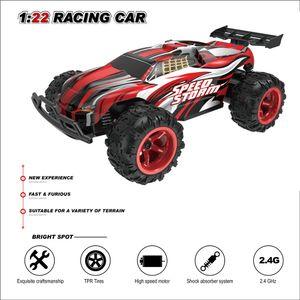 RC Радиоуправляемые игрушки для детей мальчики Off Road машины дистанционного управления машиной на Qadio автомобиль 1:22 2.4G 2WD Y200414