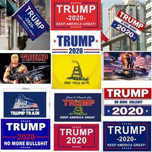 Digital Print Stardard Taille 3 x 5 pieds de Ne marchez pas sur moi Keep America Great Gadsden Trump Biden Président bannière de drapeau pour l'Amérique