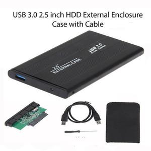 سبائك الألومنيوم 2 0.5 بوصة USB 3 .0 سائق ساتا القرص الصلب الخارجي المحمول الأقراص الصلبة الضميمة حالة القرص مع حزمة البيع بالتجزئة