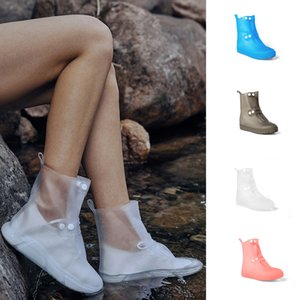 Reusable PVC Rain Shoes Cover Outdoor Anti-Slip Waterproof Boots Silicone Overshoes for Men Women Size 36-45