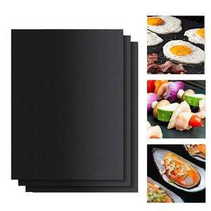 Réutilisable antiadhésifs BBQ Grill Mat Pad cuisson feuille portable extérieur pique-nique de cuisson Barbecue Four Outil Accessoires de barbecue Gril Mat DHA777