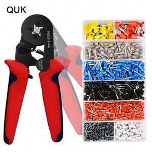 QUK Pince à sertir Mini-Bornes électriques Tube HSC8 6-4a HSC8 6-6mm Multitool réglables Pince à sertir Presse Outils yaxJ #