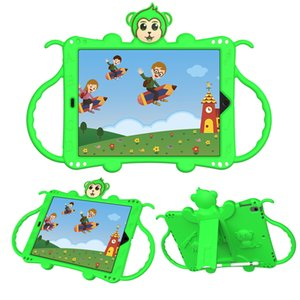 iPad case for Kids,3D Monkey EVA Light Weight Shockproof Handle Stand Cover child Friendly case for ipad 5  ipad 6  ipad pro 9.7  New iP
