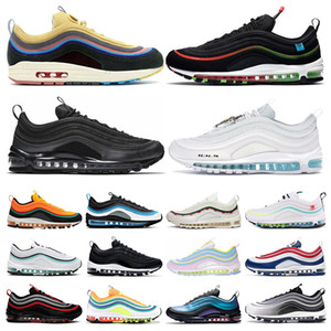 nike air max 97 running shoes Triple White Cone Red black Grape Sliver Bullet persian violet Hombres Mujeres Zapatillas Deportivas Entrenador Deportivo Sneaker