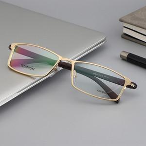 Yeni gündelik Tam metal titanyum alaşımı çerçevesi miyopi Frame 9030 Miyop Gözlük erkekler pLeYQ Glasses