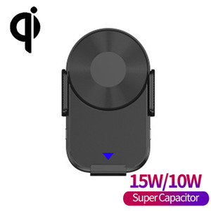 Qi 15W Coil Induction Super Capacitor Car Wireless Charger With Suction Cup Mount And Air Vent For iPhone 11 X XR XS 8 Plus Galaxy Huawei