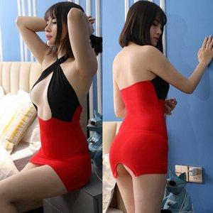 Jin flexível aberta no peito transparente sexy lingerie gratuitos Tight Pants Ktv mini-minissaia boate calças KTV saia 180901