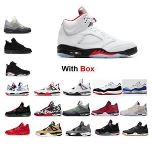 13 Flint 2020 5 Feu rouge d'argent 5S langue 11 11S Space Jam blanc pâle 4s Bred chat noir Bred chaussures de basket-ball espadrille