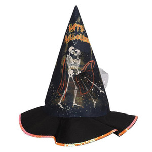Halloween Witch Hat Masquerade Party Stage Performance Headdress Ghost Festival Elf Witch Sorcerer Pointer Hat