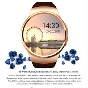 Smart Watch Kw18 Smart Watches Compatible For Ios And Android System Fashion Shape Heart Rate Sync Wristwatch Dhl Free Shipping