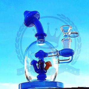 vetro olio rig grande tubo di acqua viola filtro fumo blu bottiglia acqua erogatore acqua nero verde 14 mm braccio bong alto vetro.