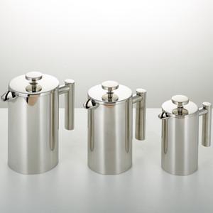 350/800 / 1000ML кофейники French Press чайник двойными стенками из нержавеющей стали Кофейник Чайник Горшок с ситечко фильтра GGA3697-4