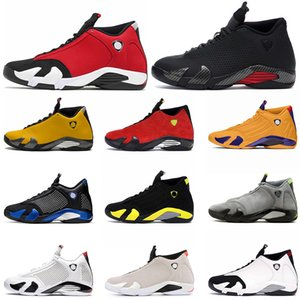 Nike air jordan retro 14 14s zapatos de baloncesto del Mens Jumpman Nueva Universidad de oro de 14 Gimnasio rojas Doernbecher desierto de arena blanca Tamaño 13 formadores