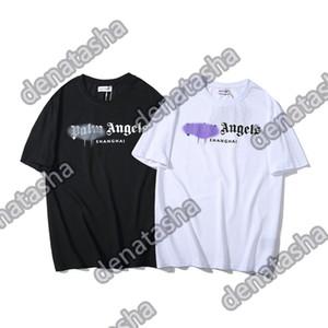 2020ANGELS красота прилив PALM печать АНГЕЛА PA потерять случайный спорт шеи с коротким рукавом футболки мужчин и женщинами 080303
