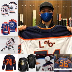 Ethan Orso 74 Edmonton Oilers 2020 Cree sillabico Honors indigena Patrimonio First Nations Con Honors indigena Heritage hockey jersey