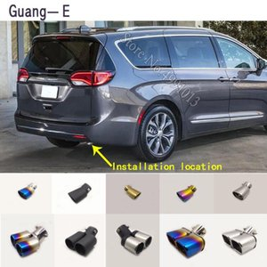For Pacifica 2020-2020 car stickers muffler exterior back end pipe dedicate exhaust tip tail outlet ornament 1pcs