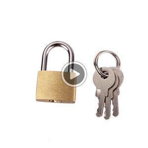 صغيرة الحجم أقفال النحاس مفتاح قفل - الصلبة قفل الرس (حزمة من 2 مفتاح) لفي الأماكن المغلقة والهواء الطلق السفر ديفيد