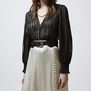 Striped shirt women's new design in autumn 2020