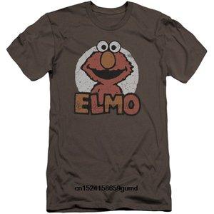 Смешные люди тенниска Женщины Новизна Tshirt Улица Сезам Elmo Имя Премиум Холст Марка Slim Fit T-Shirt